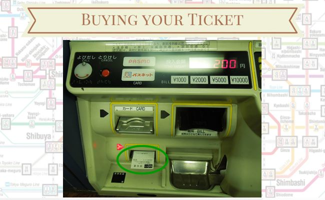 Tokyo Metro - Buying your ticket - Dispensing Receipt