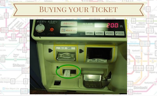 Tokyo Metro - Buying your ticket - Dispensing Ticket